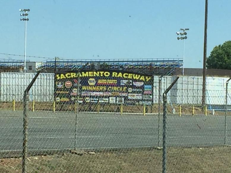 Sacramento raceway sign