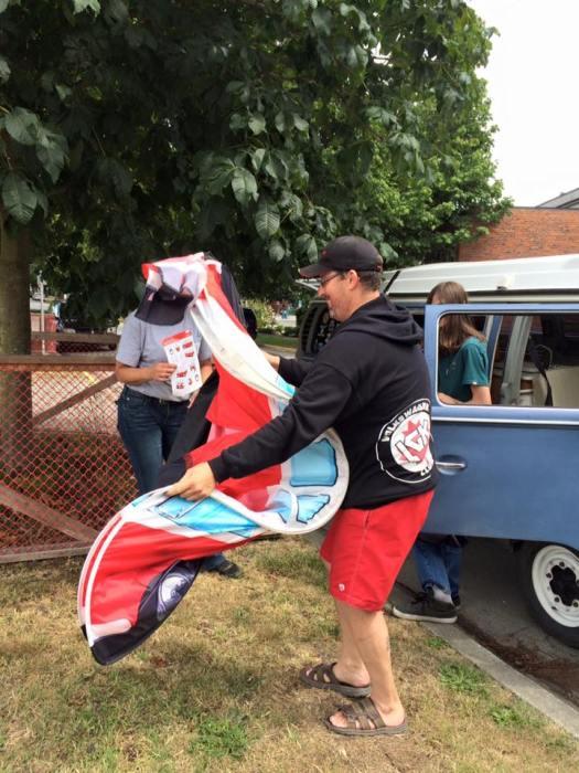 Volksfest tent folding