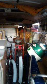 Camping gear, bikes and baskets